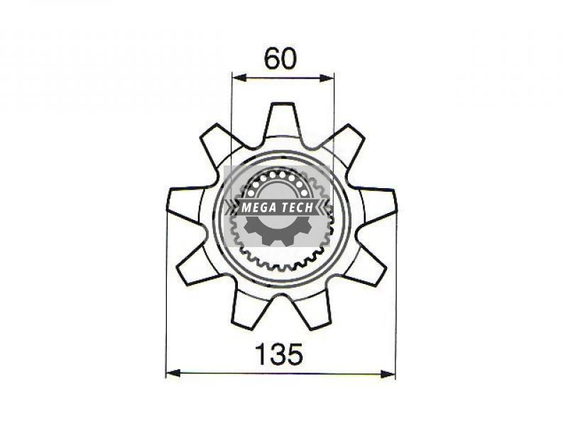 ZĘBATKA Z-9 fi-60mm 650787 Łożyska