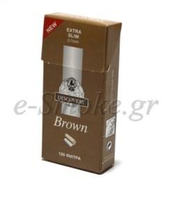 Φιλτράκια στριφτού DISCOVERY Brown Extra Slim 5.7mm