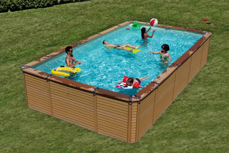 piscine acier carre