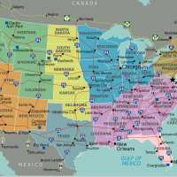 Carte USA - Géographie des états