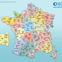Carte de France Régions et Départements français