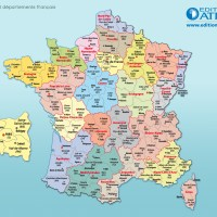 France - Carte géographique
