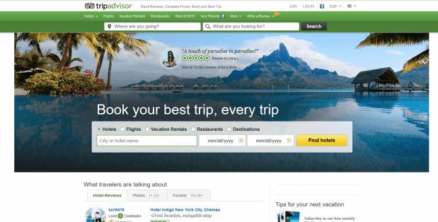 أبرز مواقع حجز الفنادق والرحلات