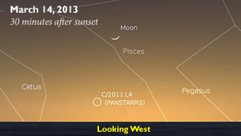 Έναν κομήτη μπορούν να δουν με γυμνό μάτι οι φίλοι της αστρονομίας σήμερα και αύριο στο βολιώτικο ουρανό