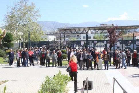 Ο Σύλλογος Συνταξιούχων του ΙΚΑ, καθώς και μέλη του ΣΥΡΙΖΑ, του ΕΠΑΜ, αλλά και εργαζόμενοι του Ιδρύματος
