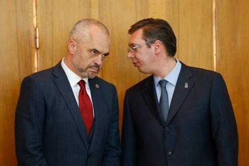 Albanian prime minister Edi Rama in Serbia