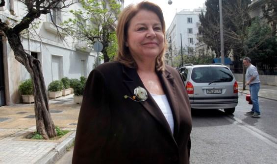 Η πρόεδρος της Εθνικής Τράπεζας Λούκα Κατσέλη εξέρχεται από το Μέγαρο Μαξίμου, Αθήνα,  Μεγάλη Δευτέρα 06 Απριλίου 2015. ΑΠΕ-ΜΠΕ/ΑΠΕ-ΜΠΕ/ΟΡΕΣΤΗΣ ΠΑΝΑΓΙΩΤΟΥ