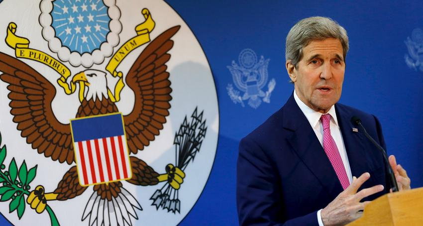 U.S. Secretary of State Kerry delivers remarks at the Fulbright Center in Nicosia, Cyprus