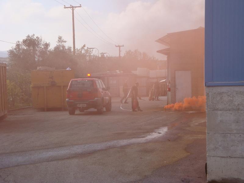 Η φωτιά στο εργοστάσιο