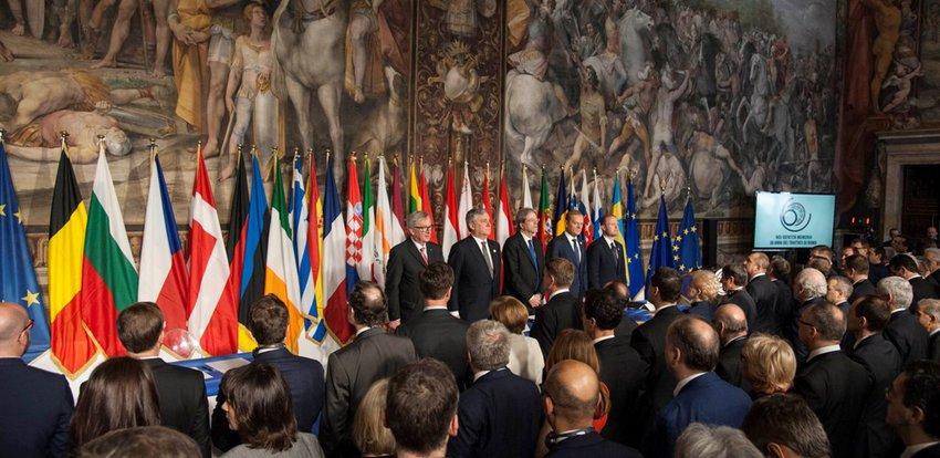 Οι ηγέτες της ΕΕ υπέγραψαν τη Διακήρυξη της Ρώμης