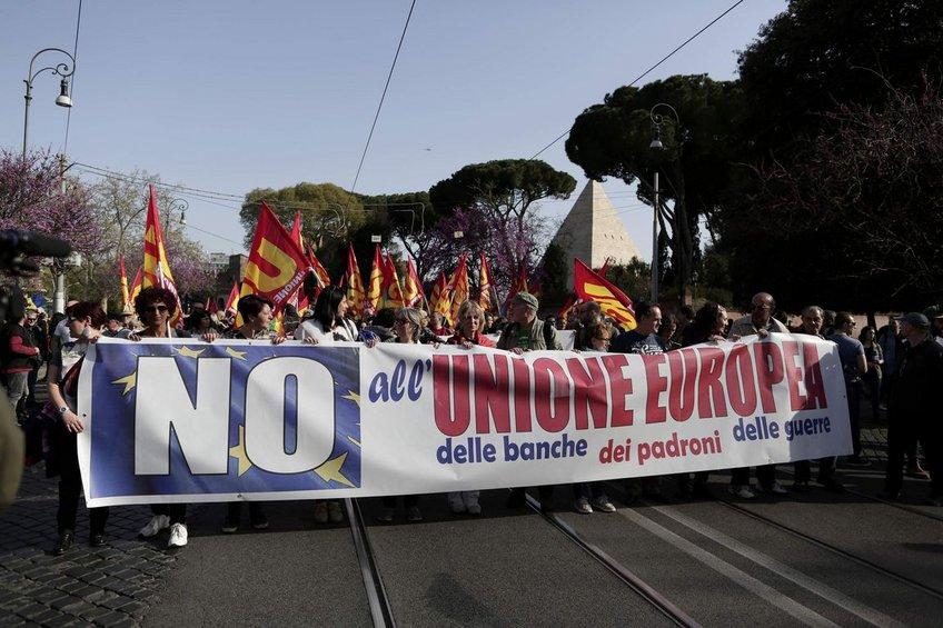 Ιταλία: Χιλιάδες διαδηλωτές στους δρόμους για την επέτειο της Συνθήκης της Ρώμης