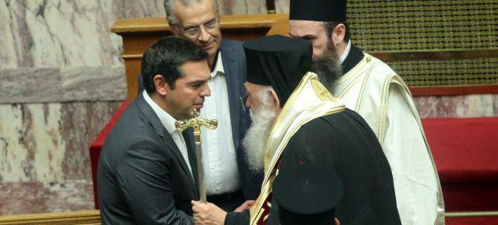 Μυστική συνάντηση Ιερώνυμου-Τσίπρα στην Αρχιεπισκοπή