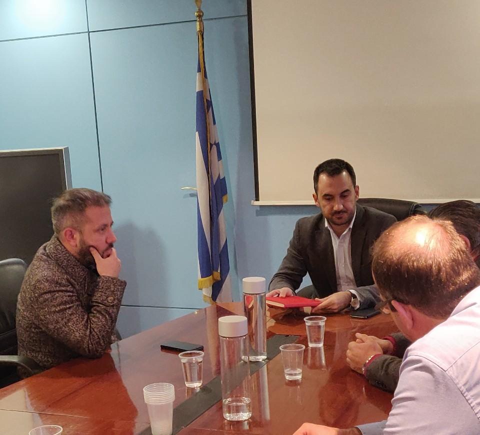 Συνάντηση με τον Υπουργό Εσωτερικών για τα θέματα στελέχωσης του Δήμου Αλοννήσου