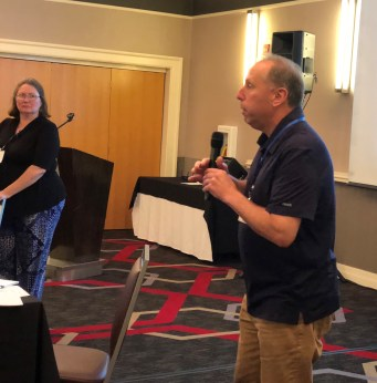 TMF Medical Director Dr. Michael Baron thanks Ms. Bates for her presentation.