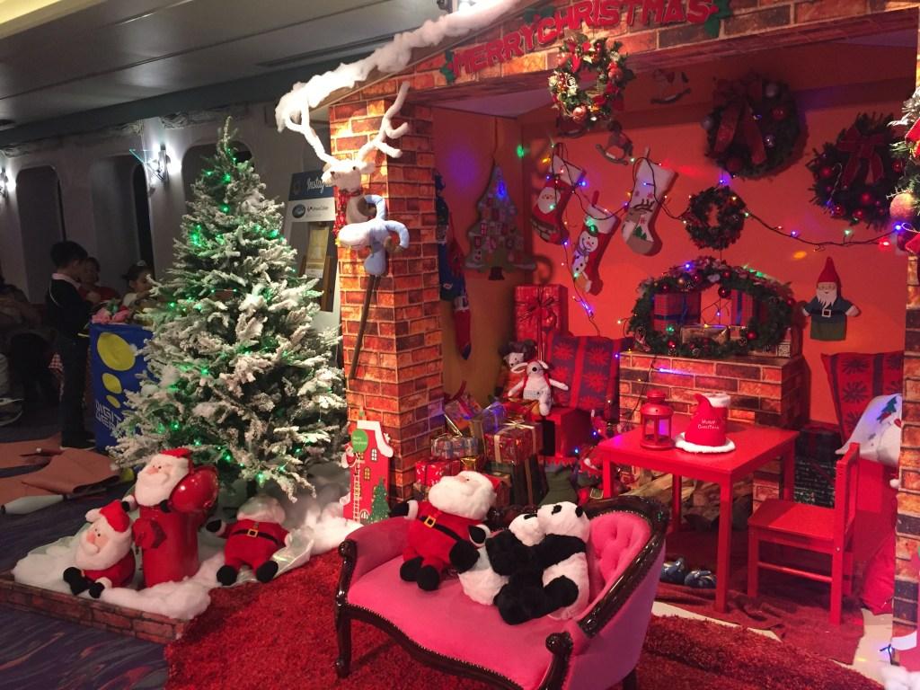ぱしふぃっくびいなすのクリスマスの飾り