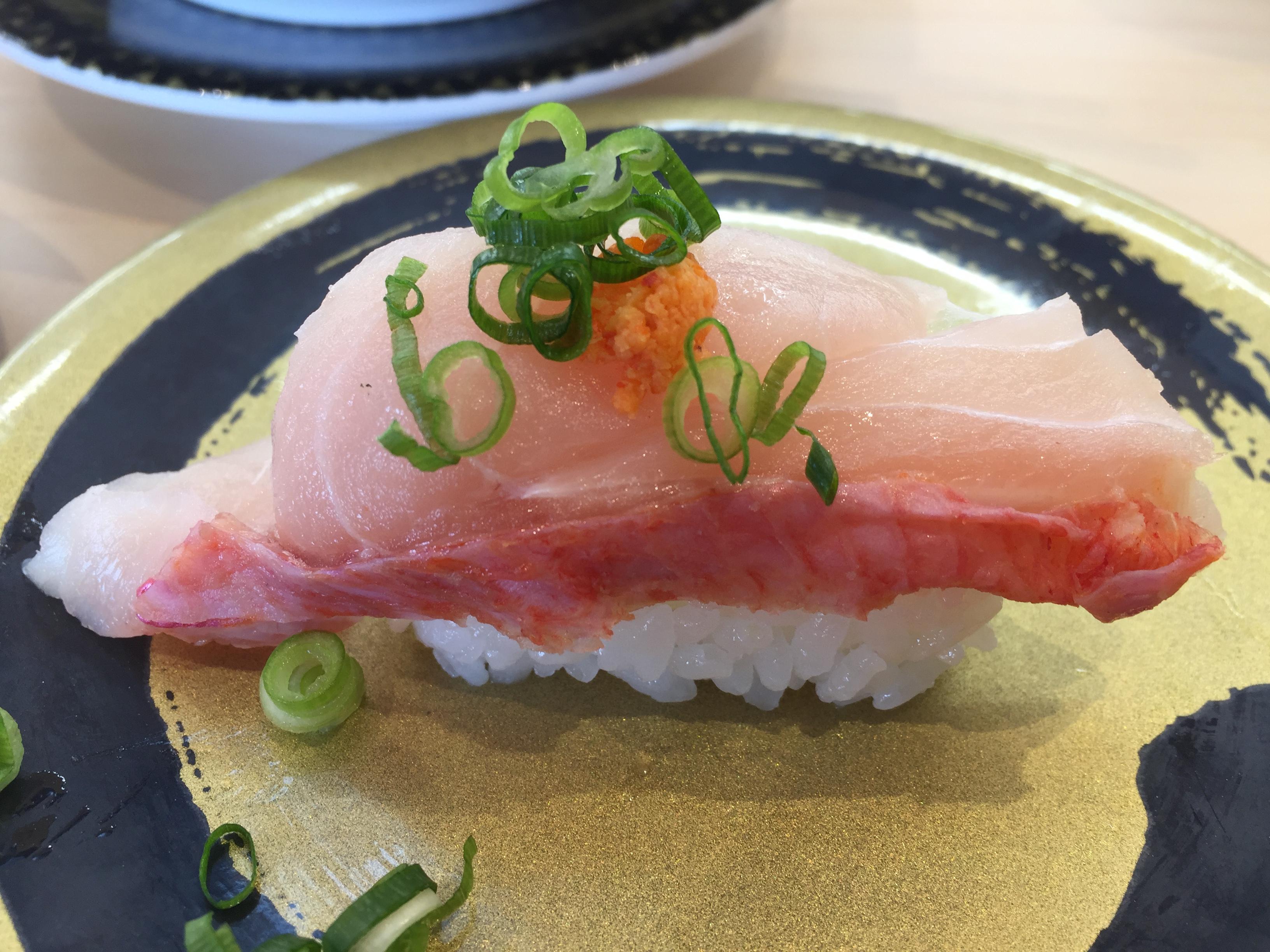 はま寿司金目鯛握り