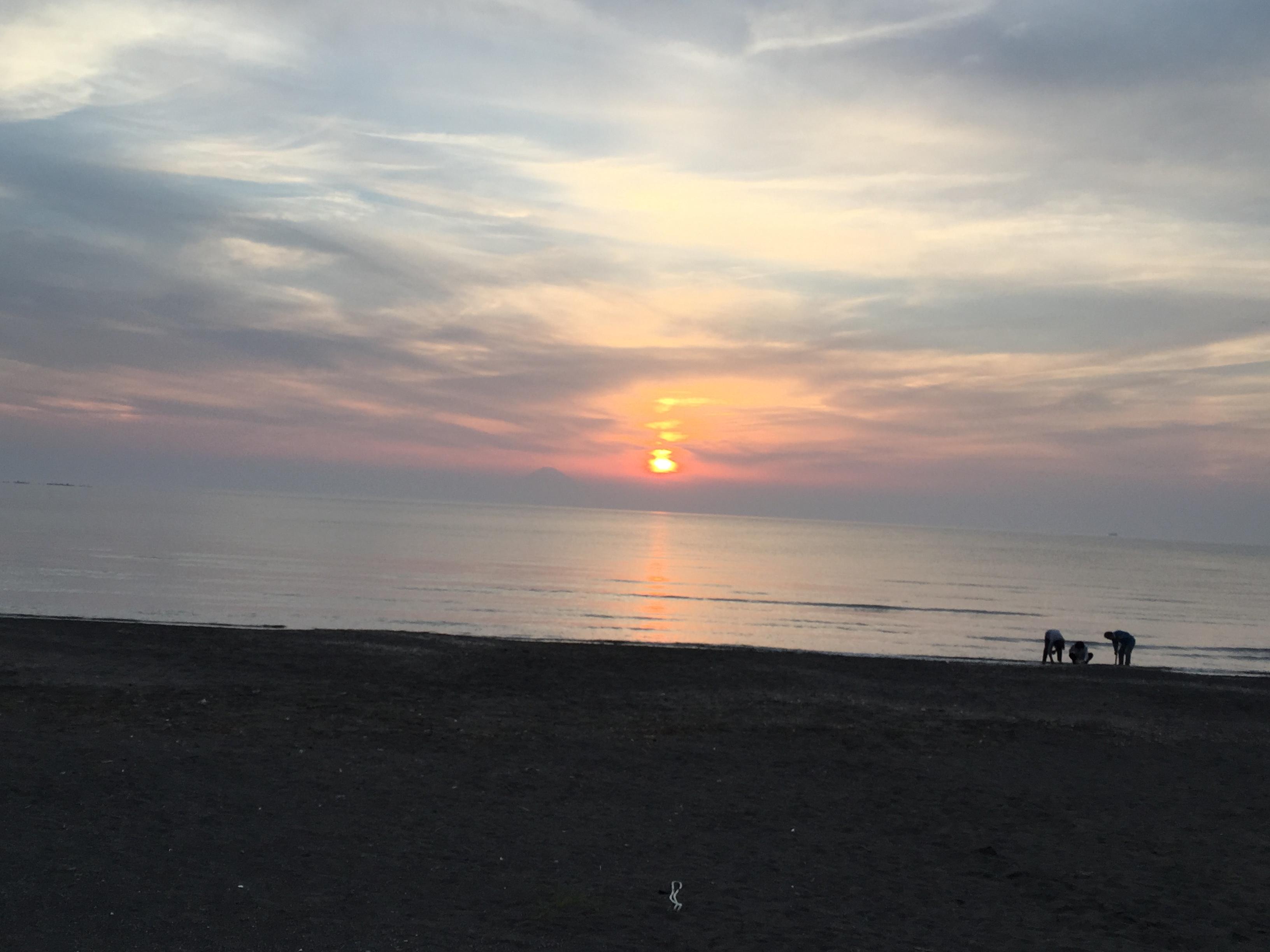 原岡海岸夕日