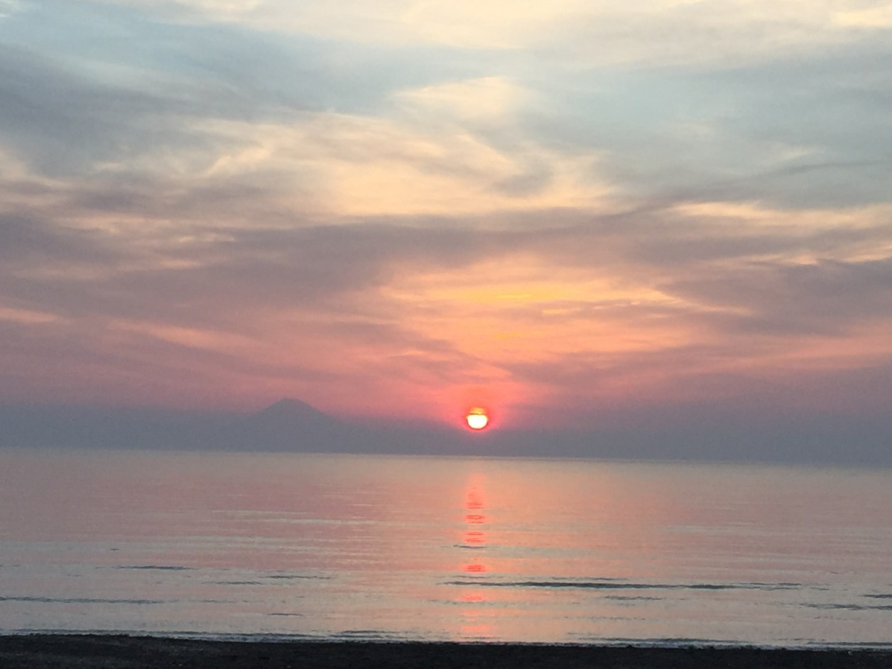豊岡海岸の夕日