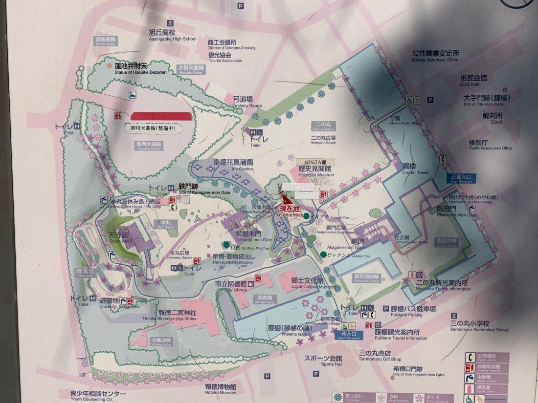 小田原城址公園の見取り図