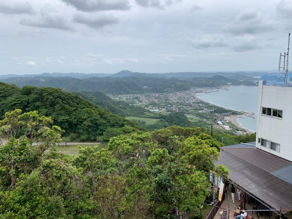 鋸山ロープウエー山頂駅からの眺め
