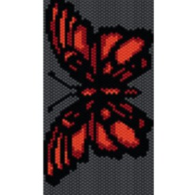 Wzór peyote - Bransoleta - Czerwony Motyl