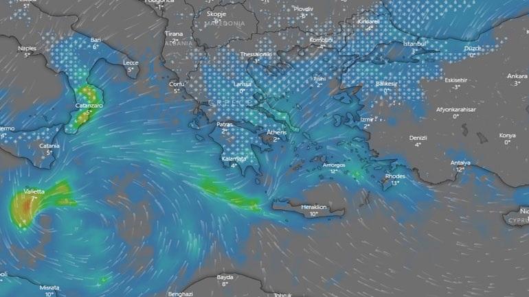 Η κακοκαιρία «Ωκεανίς» θα σαρώσει τη χώρα με χιόνια και τσουχτερό κρύο