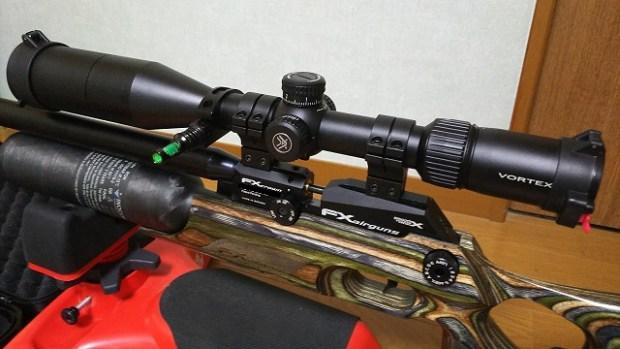 PCPエアーライフル(プリチャージ空気銃)に【FFPライフルスコープ】を選んだ理由:FXクラウンに装着した【Vortex Diamondback Tactical 6-24✕50 FFP MRAD】の紹介