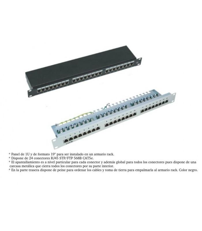Patch panel 24 puertos para Cat.6- FTP FA-2084B
