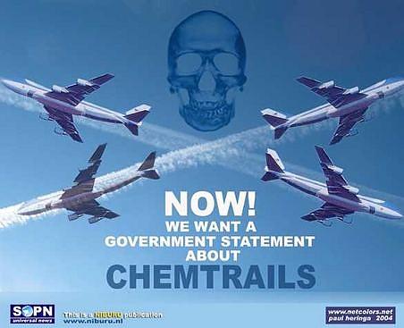 CHEMTRAILS, пръскане на токсични вещества от самолети