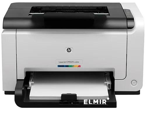Принтер лазерный HP Color LaserJet Pro CP1025nw (CE914A) купить | Elmir - цена. отзывы. характеристики