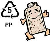 塑膠水瓶不耐熱 只有 5 號可微波