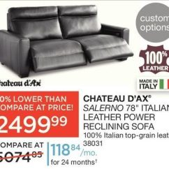 Power Recliner Sofa Canada Ebay Leather Sofas Chesterfield Sears Chateau D Ax Salerno 78 Italian Reclining 2499 99