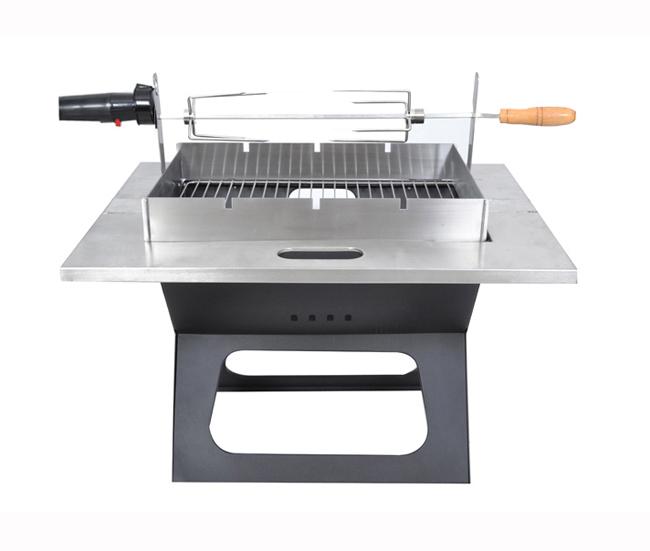 WASHAMl可折疊不鏽鋼桌面型旋轉燒烤架 - PChome 24h購物