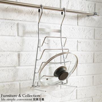 kitchen pot hangers wall unit carcasses 舒適屋 不銹鋼廚房鍋蓋架 附滴水皿 廚房收納架 pchome 24h購物