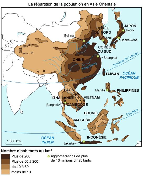 L Asie Du Sud Et De L Est : L'Est,, Défis, Population, Croissance, Maxicours