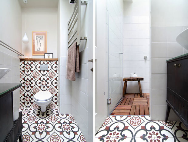 Design madeira e ladrilho hidrulico  Casa Vogue