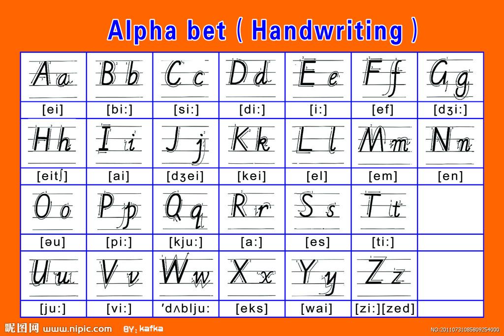 誰有26個字母的書寫體音標_百度知道