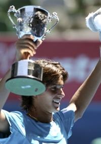 Tiago Fernandes comemora título do Aberto da Austrália juvenil