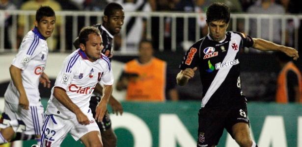 Na partida de ida, em São Januário, Vasco e Universidad de Chile empataram em 1 a 1