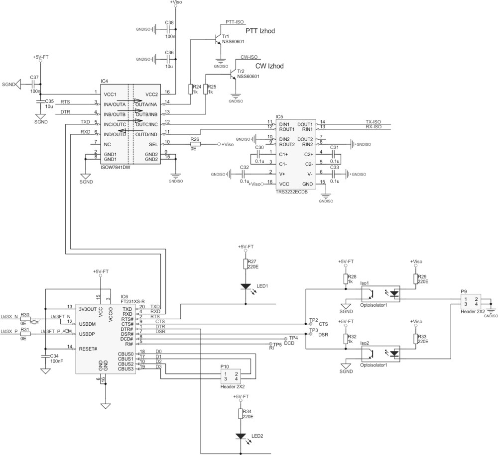 medium resolution of schematic for the usb to serial interface cat located on the hub main board