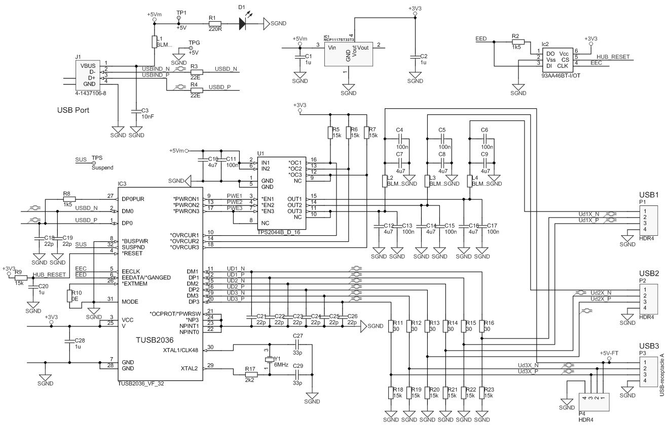 hight resolution of usb hub schematic diagram