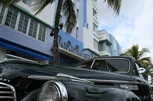 Ocean Drive with cars