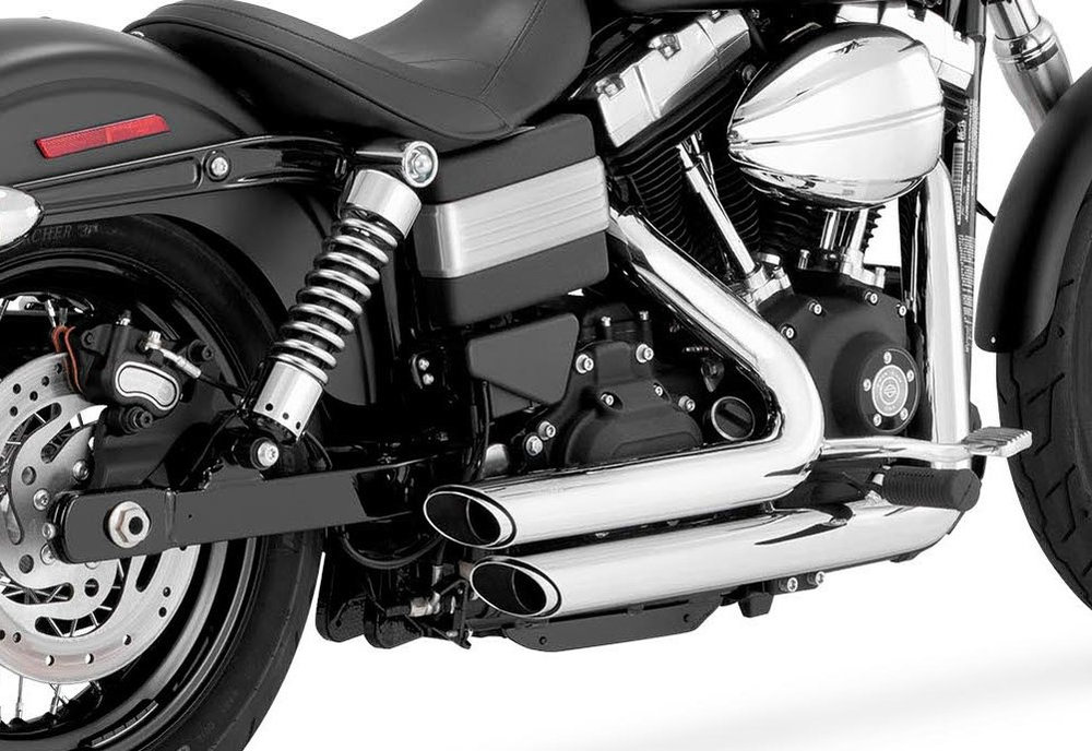 vance hines shortshots staggered dual exhaust system for harley davidson dyna