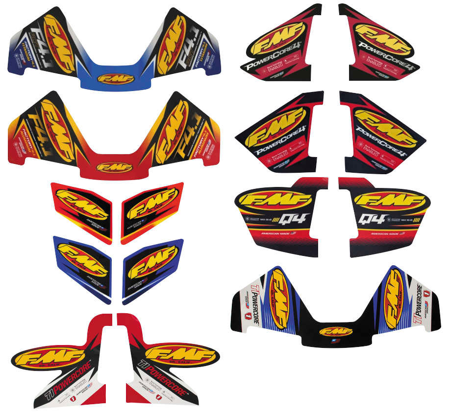 13 54 fmf factory 4 stroke motorcycle replacement decals 1042089
