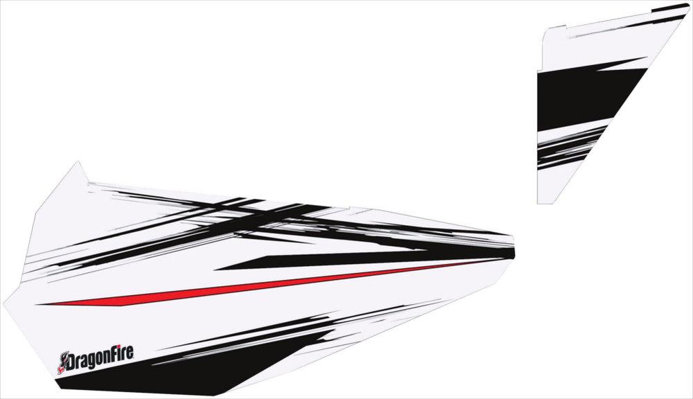 $129.99 Dragonfire Racing White Lightening Door Panel #233526