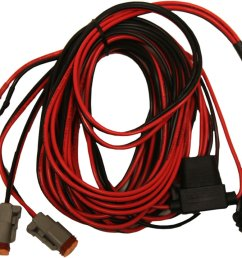 rigid dually atv 14 foot long wire harness pair red black 40195 [ 1000 x 830 Pixel ]