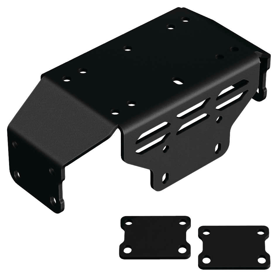 medium resolution of kfi atv winch mounting kit for kfi warn winches for honda black 101215