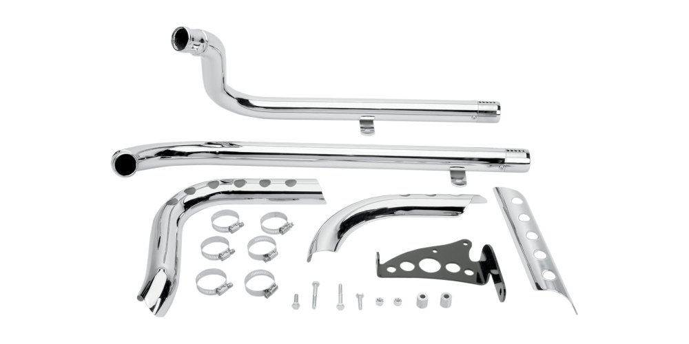 Supertrapp Three Shield Exhaust X Pipes Chrome For Harley