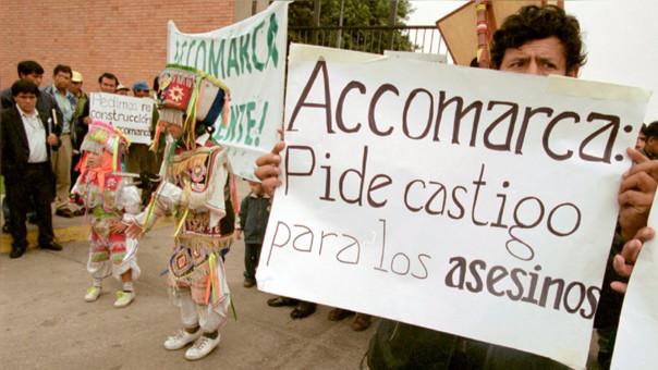 """Familiares de víctimas piden justicia a las autoridades. """"La justicia peruana tiene una enorme deuda con las víctimas del caso Accomarca"""", dijo Jorge Bracamonte, secretario ejecutivo de la Coordinadora Nacional de Derechos Humanos."""