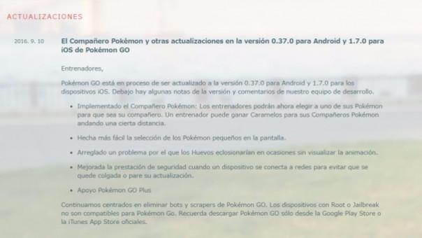 El anuncio sobre la actualización de Pokémon Go trajo muchos malestares a los usuarios.